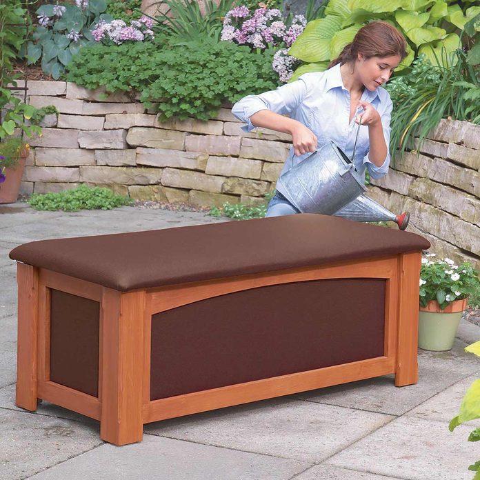 Outdoor Storage Bench Lead garden storage bench