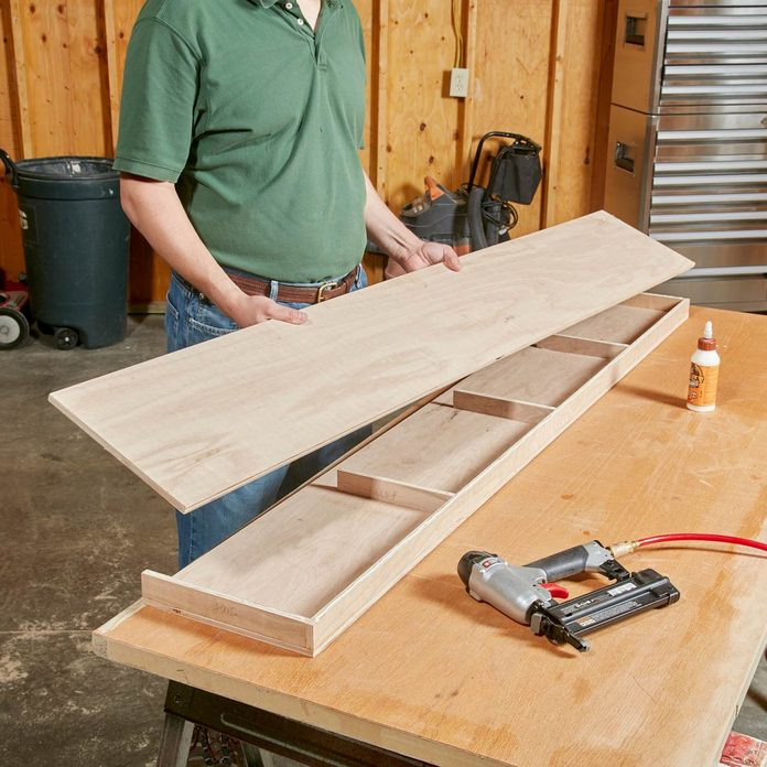 Floating Shelves Glue and Nail the frame together