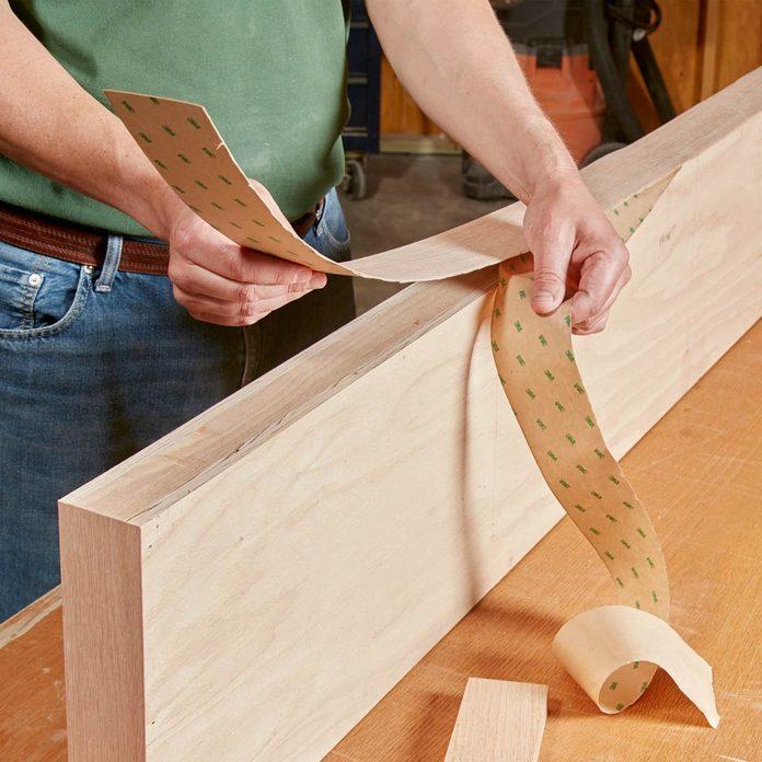 Floating Shelves Stick on the veneer