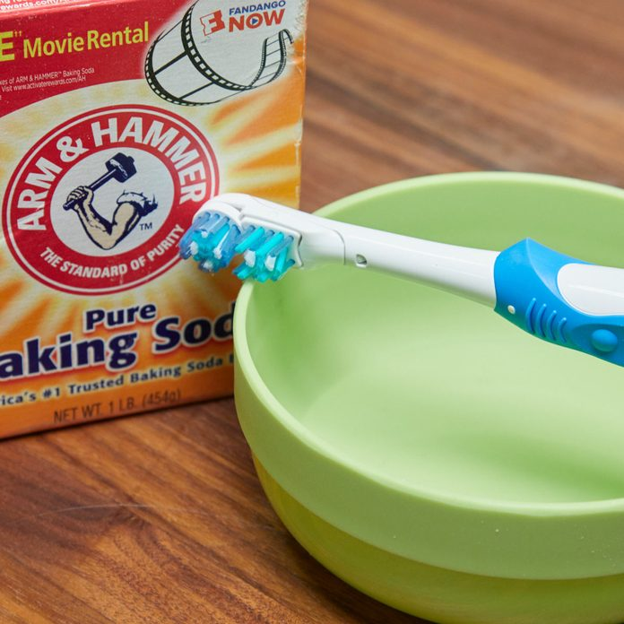 HH electric toothbrush cleaning tool baking soda