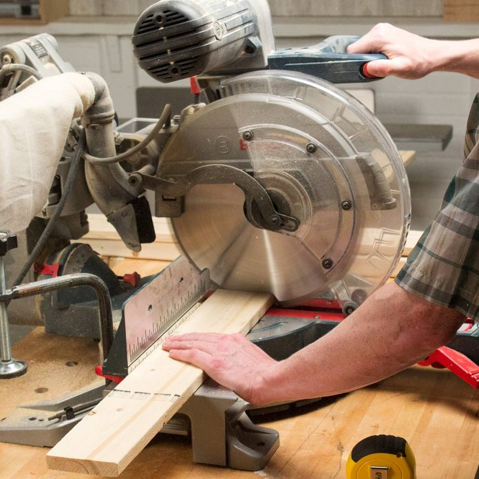Adjustable Sawhorse Crosscut boards to length