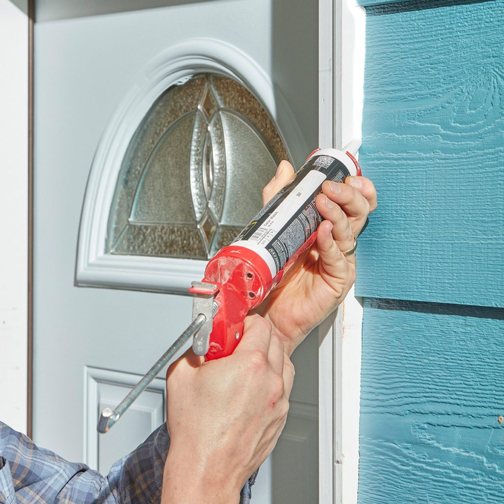 Caulk being used to seal exterior surfaces   Construction Pro Tips