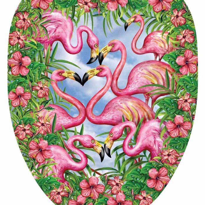 flamingo toilet