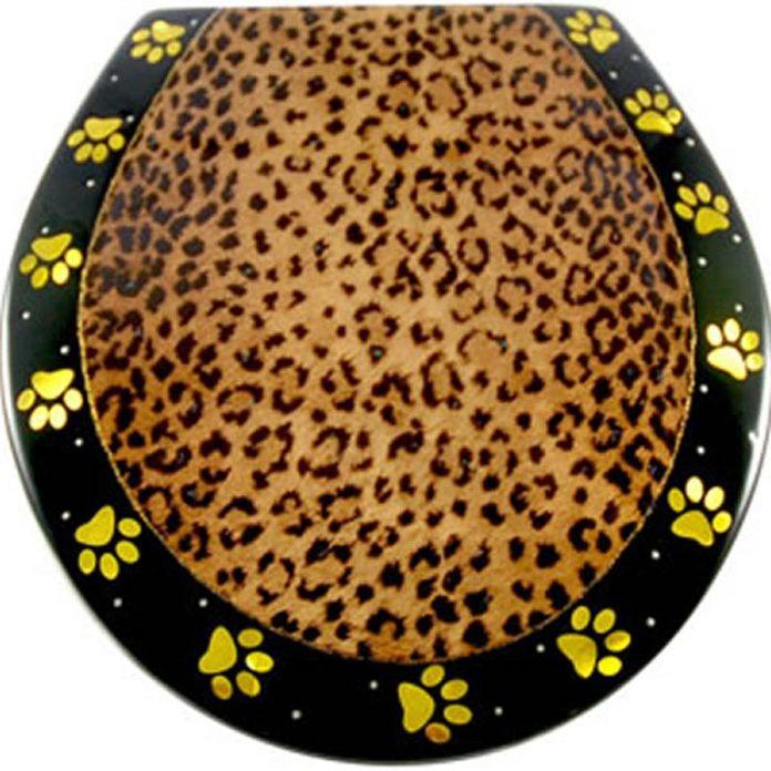 leopard print toilet