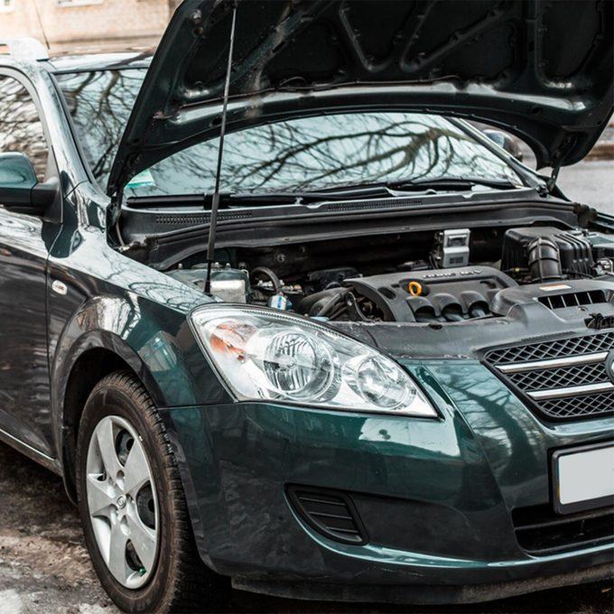 car under hood