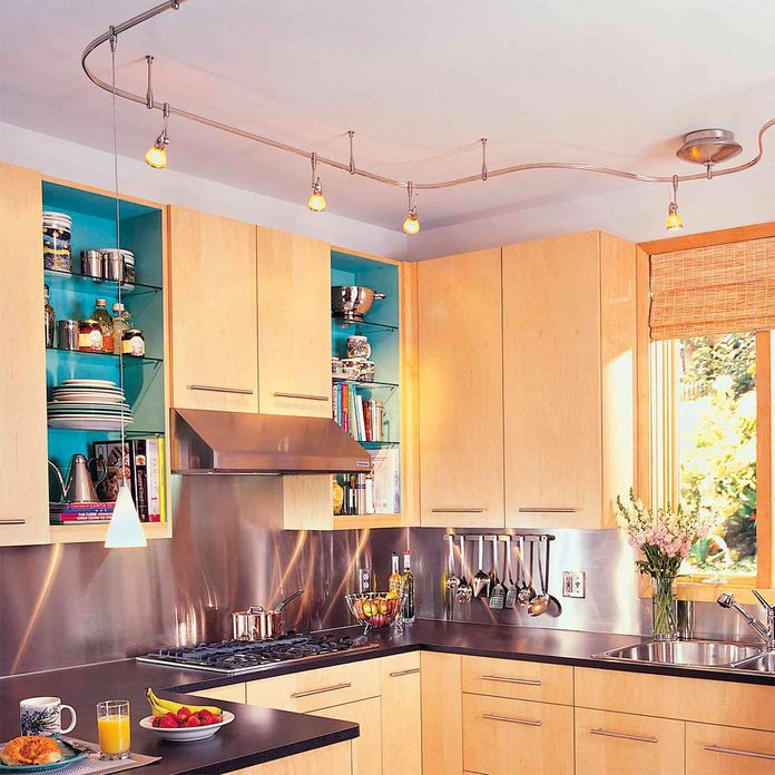 track lighting in kitchen