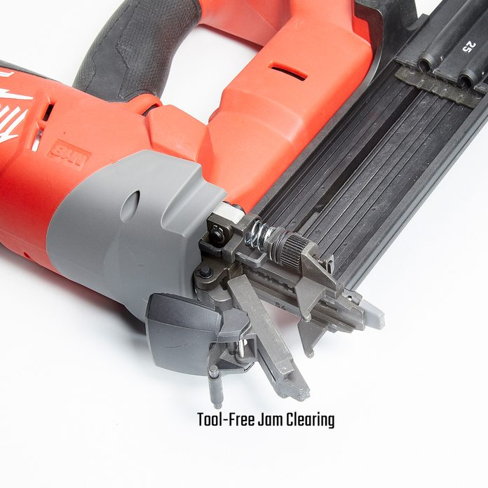 Brad Nailer with Tool-Free Jam Clearing   Construction Pro Tips