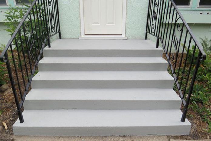 finished concrete stair restore