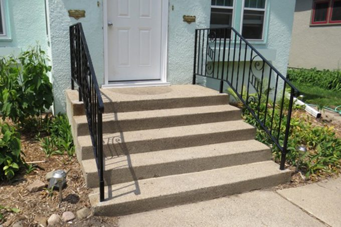 concrete stairs before