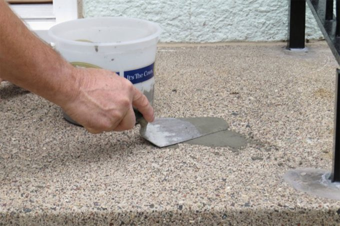 patching concrete stairs