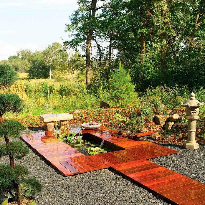 deck pond after