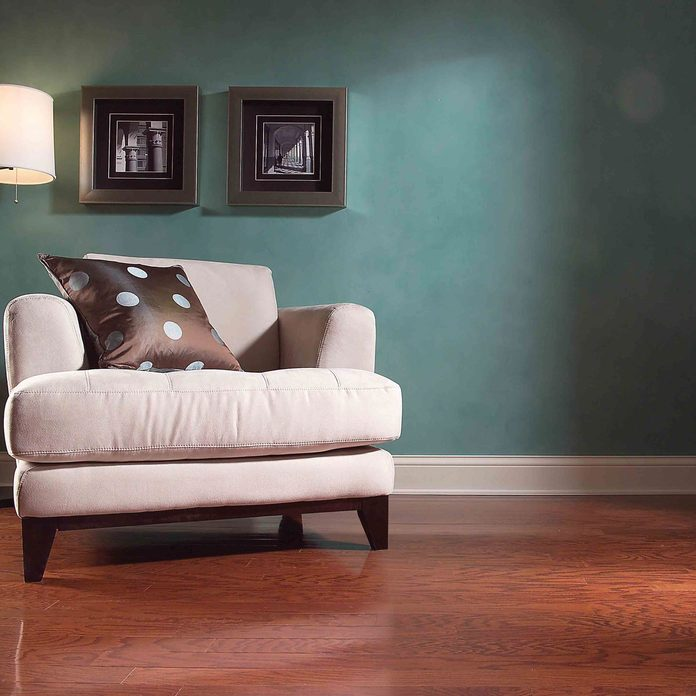 living room finished wood flooring