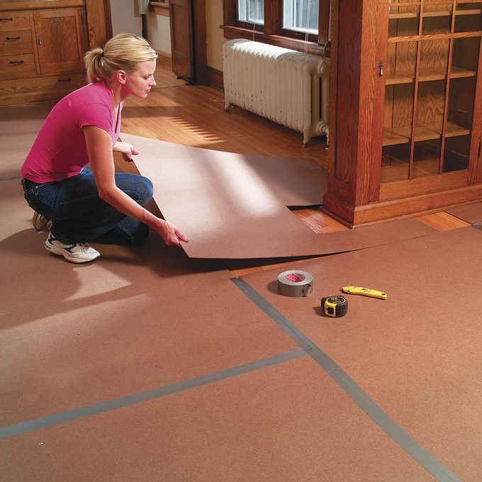 protect floors during demo