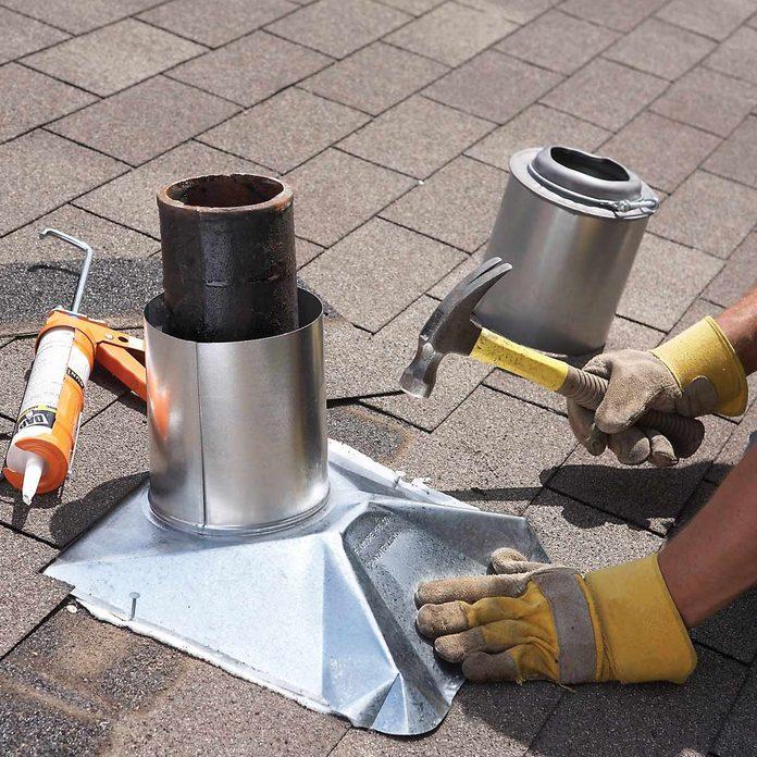 installing roof flashing