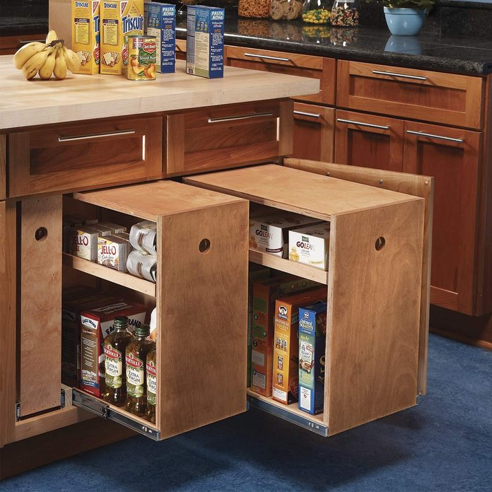 DIY kitchen cabinet rollouts