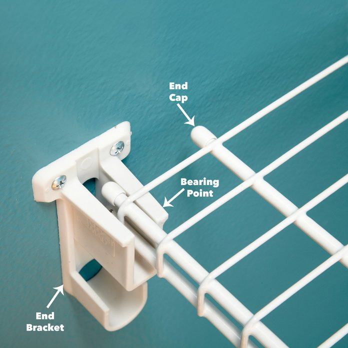 end bracket wire shelving