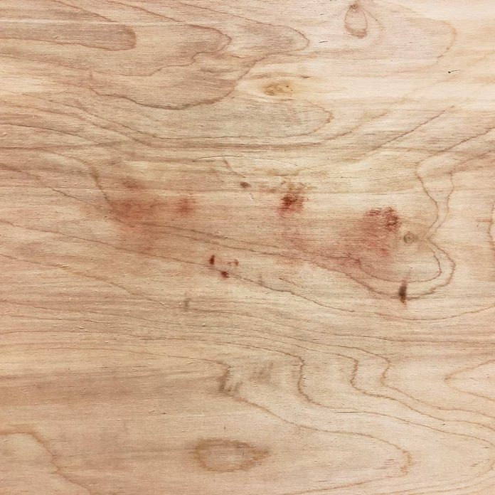 Sand plywood at your own risk veener adhesive showing through