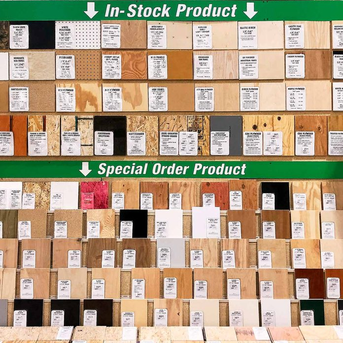 special order plywood from home depot