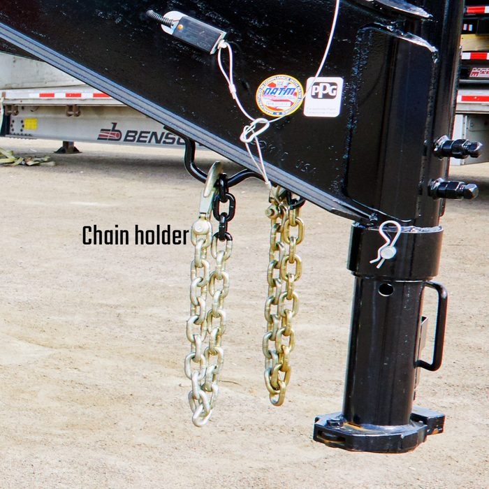 Chain holders under trailer arm   Construction Pro Tips