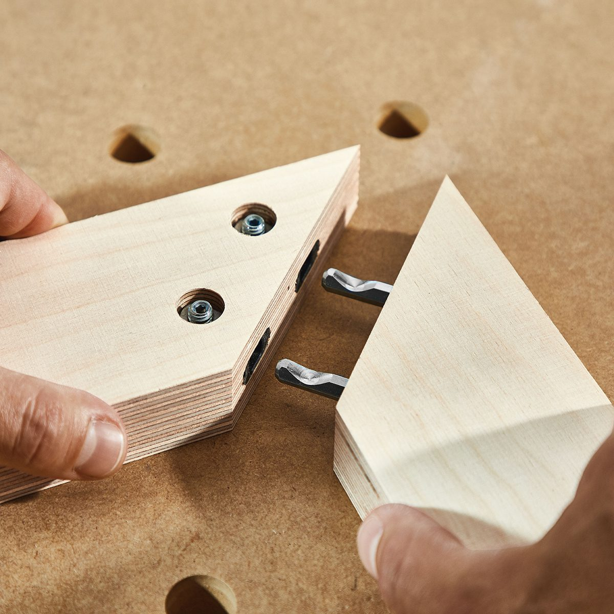 Putting together a joint with a Domino Joiner Connector | Construction Pro Tips