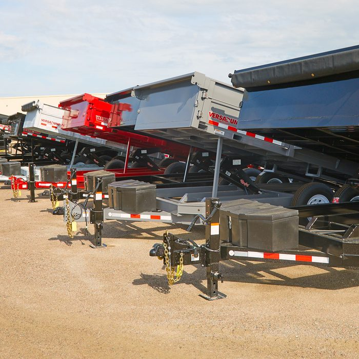 Different sizes and varieties of Dump Trailers   Construction Pro Tips
