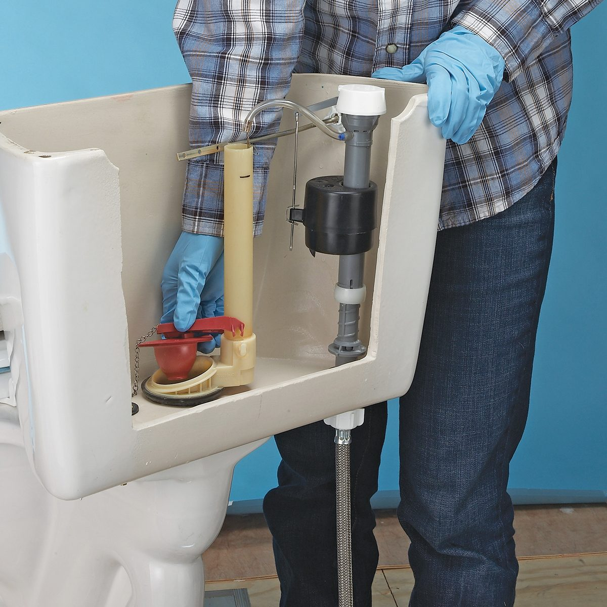 A correctly installed toilet flapper   Construction Pro Tips