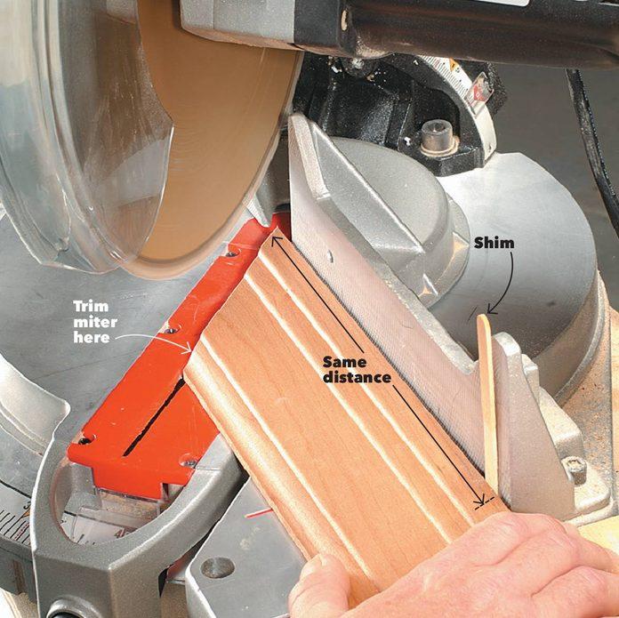 treat both trim sides the same miter saw