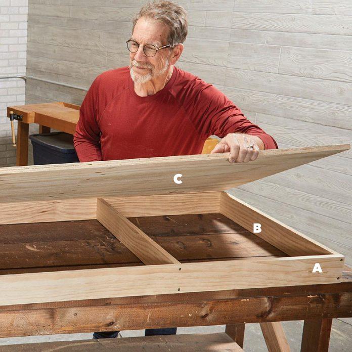 build the base flip-top bench