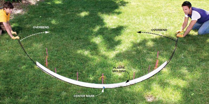 bend rebar into arch shape
