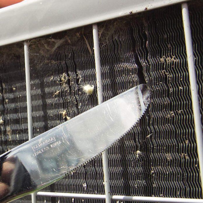 Straighten air conditioner fins