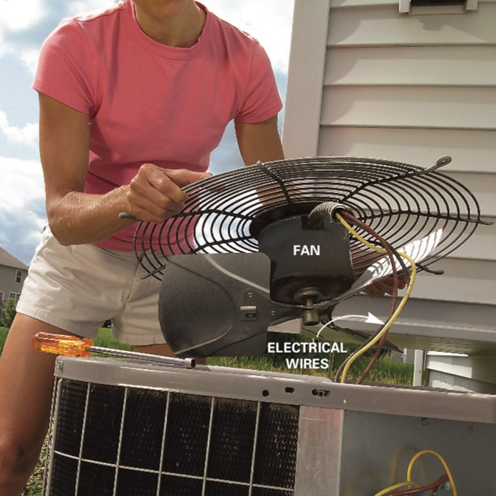 remove air conditioner fan diagram