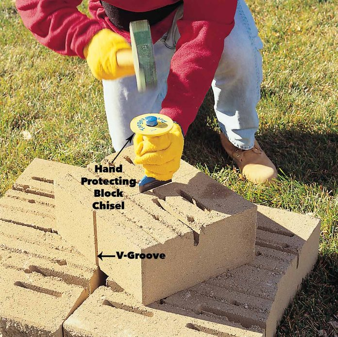 cut blocks with a chisel