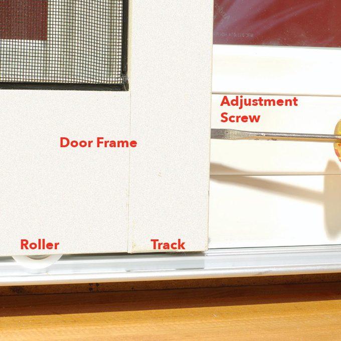 sticking patio screen door fix