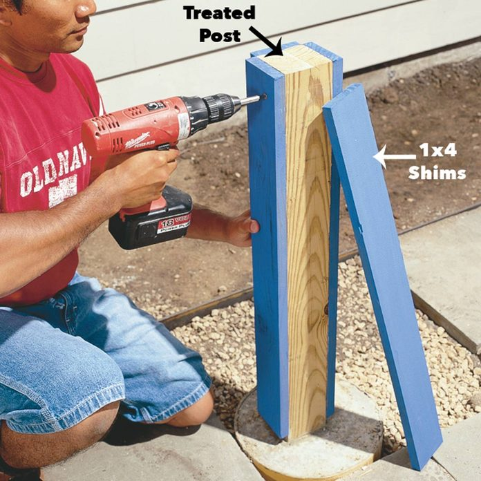 attach shims to posts