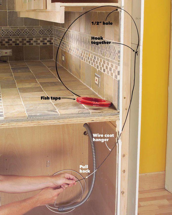 under cabinet wires
