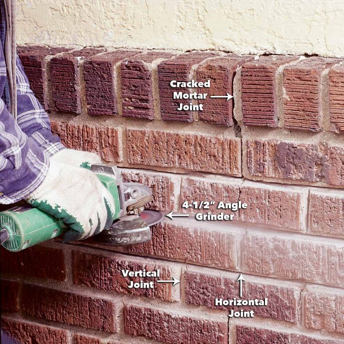 angle grinder repointing brick jobs mortar joints