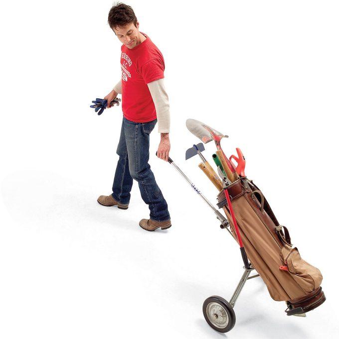 golf bag caddy garden tools