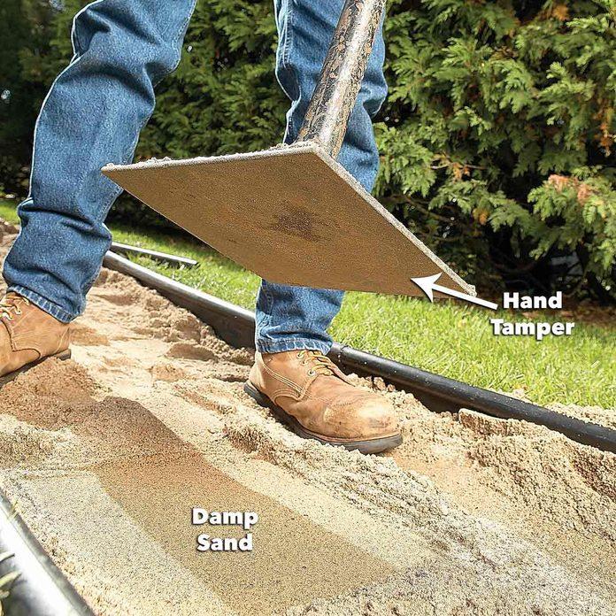 add sand to path