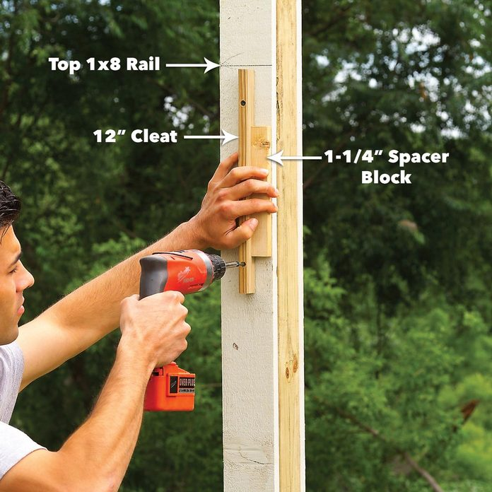 top rail cleat fence post
