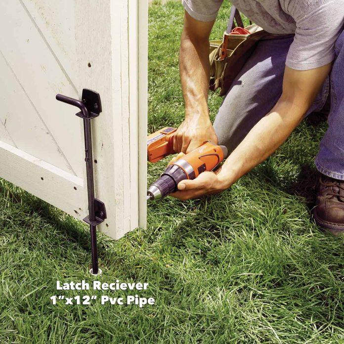 pvc pipe latch fence gate