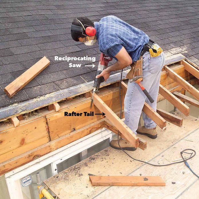 cut away roof overhang