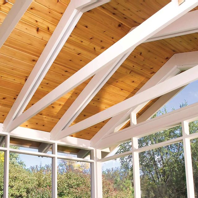 how to build a porch trusses