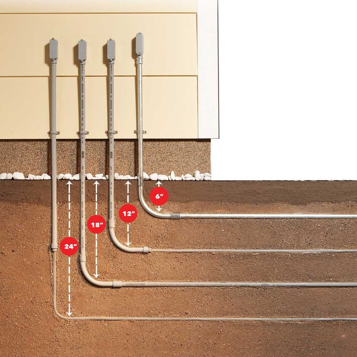 Electrical Cable Depth Options