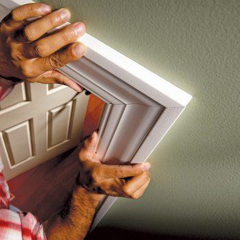 installing door frame trim