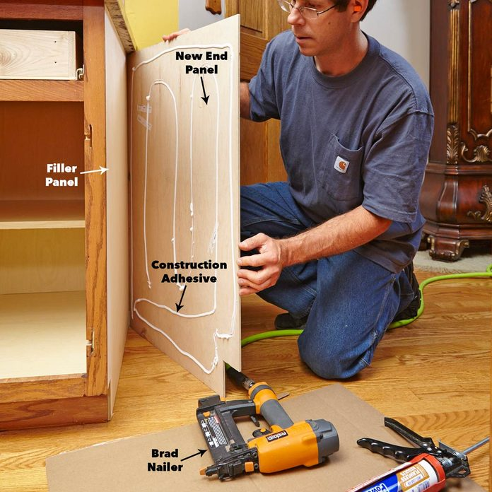 install cabinet refacing end panels