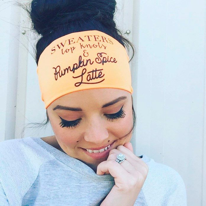 pumpkin spice latte headband