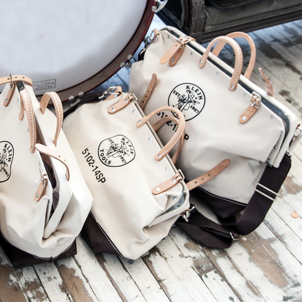 Customizable canvas bags from Klein Tools | Construction Pro Tips