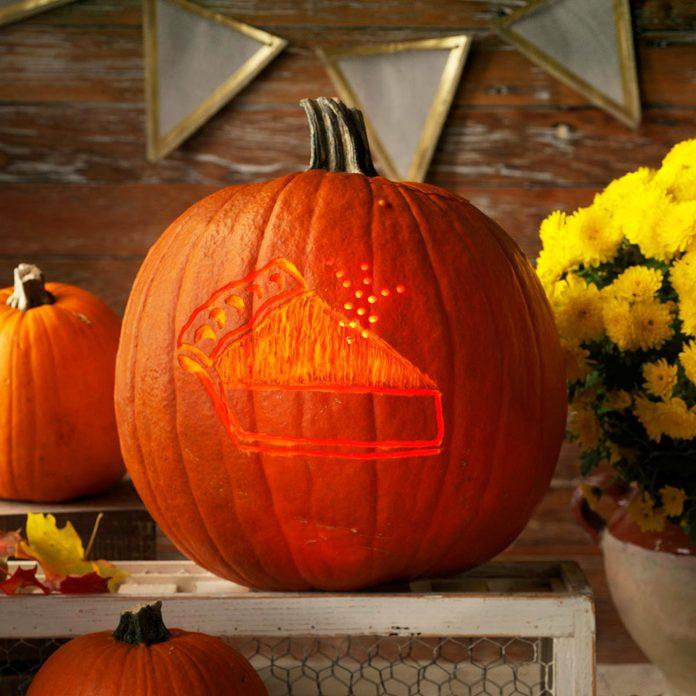 piece of pie jack o'lantern pumpkin halloween