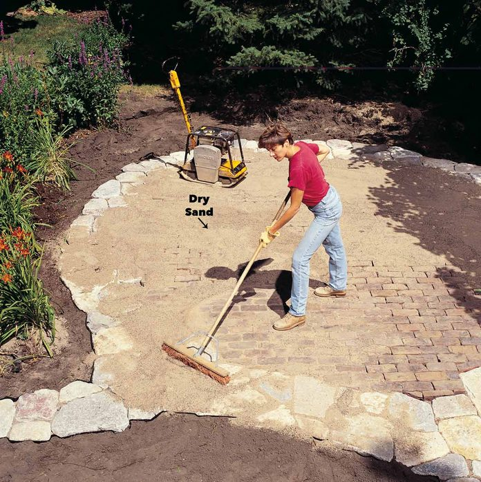 Sweep Sand into the Joints patio