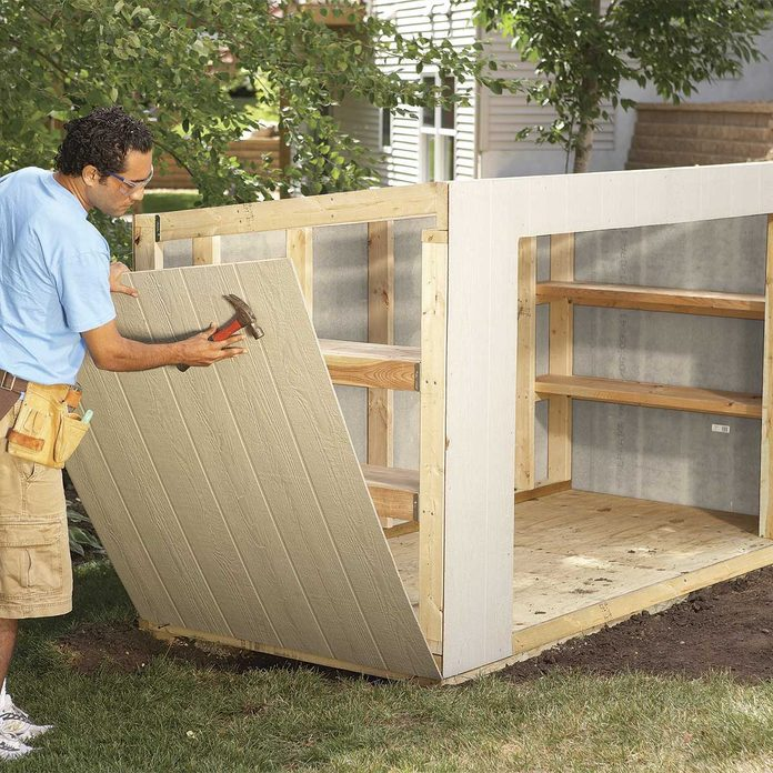 shed material list - installing siding